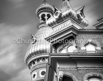 University of Tampa- Fine art Architectural Photographic Print/ Urban/City/College/Black and White/Building