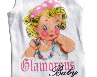 Glamorous tank tee shirt tshirt kids romper one piece childrens tshirt, tank or onesie Glamorous Baby; Glam; Glam baby