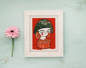 Poppies watercolor, red print, poppies postcard, flower print, portrait illustration, poppies print, kids illustration, poppies painting