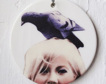 Bird Brain   Illustrated Ceramic Wall Art   Ornament