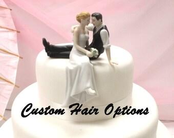 Personalized Wedding Cake Topper - Wedding Couple - Look of Love Wedding Cake Topper - Weddings - Cake Topper - Romantic Cake Topper