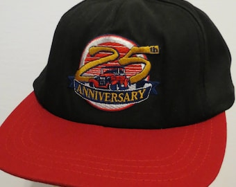 25th Anniversary VANCOUVER AUTO AUCTION 1971 - 1996 Cap Hat Black Red Authentic Trucker Snapback