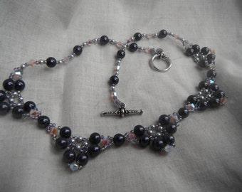 Pearl Necklace - Plum Purple