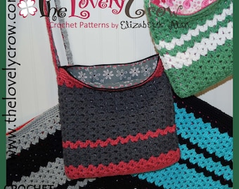 Crochet Tote Pattern MY DAUGHTER'S PURSE by The Lovely Crow