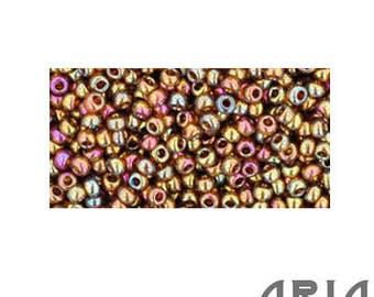 Dark TOPAZ GOLD LUSTER (459): 11/o Toho Japanese Seed Beads (10 grams)