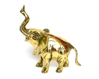 Vintage Brass Elephant Figurine