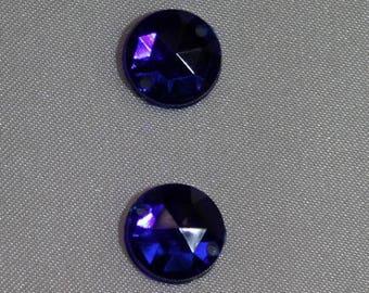 rhinestone round 11 mm - blue