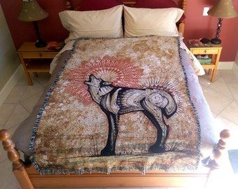 Wolf Totem - Blanket. Totem Animal Inspired Visionary Art Home Decor