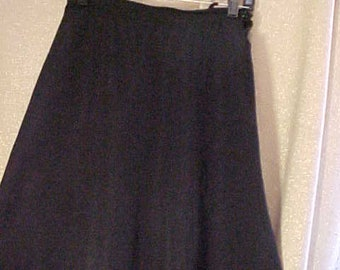 "Vintage 40s   Black Faille Skirt, 25"" waist, #3346"