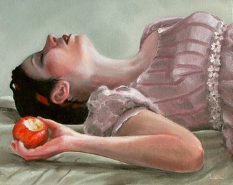 Snow White. signed Print of an Original Oil Painting