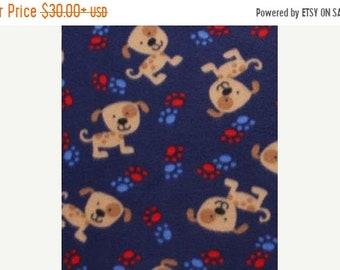 ON SALE Spotted Puppy Fleece Blanket - Puppy Blanket - FREE Personalization