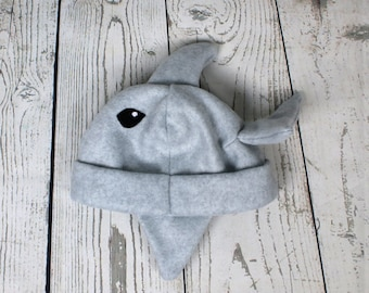 Baby and Kids Dolphin Fleece Hat, Baby Dolphin Hat, Toddler Dolphin Gift, Fleece Dolphin Hat, Dolphin Lover Gift, Dolphin Kids Gift