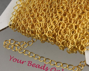 Gold Plated Chain Spool 3.5mm x 5mm 10 ft. AA Quality