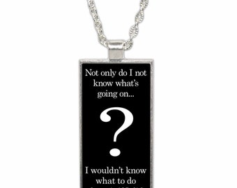 What is going on funny pendant Necklace with Chain