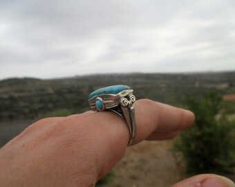 Silver rings,Multistone ring,Handcrafted 925 Sterling Silver Ring,Turquoises,Solitaire ring, Boho style,Turquoises silver ring,gift for her