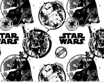 Star Wars Danger in White - Camelot Fabrics - Cotton fabric - Choose your cut
