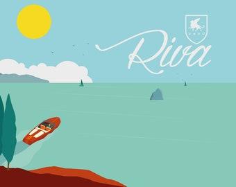 Poster illustration Veronatuti Riva