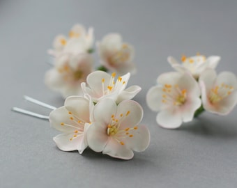 Apple blossom Hair Pin, bridal hair flower, bridal flower hair pin, wedding flower hair pin, wedding hair flower, bridal hair accessory