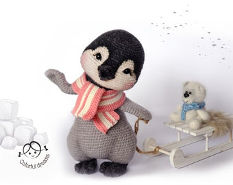 "Crochet pattern ""Penguin girl Lina"""