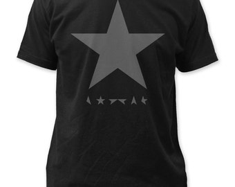 David Bowie Blackstar Soft Fitted 30/1 Cotton Jersey Tee - DB35(Black)