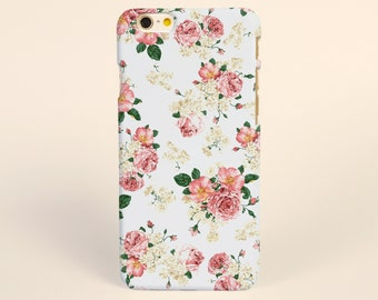 Rose Flowers Floral White iPhone 8 case, iPhone X case, iPhone 7 plus case, iPhone 6s case tough case samsung galaxy s8 case, floral case