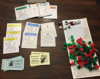Vintage Monopoly Board Game Accessories Set