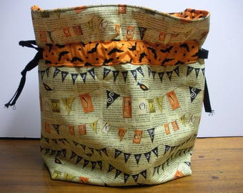 Halloween Spooky Cinch Top Project Bag