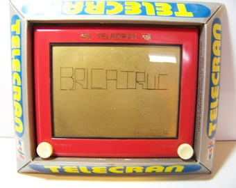 Slate magical TELESCREEN right from the 70's Etch A Sketch