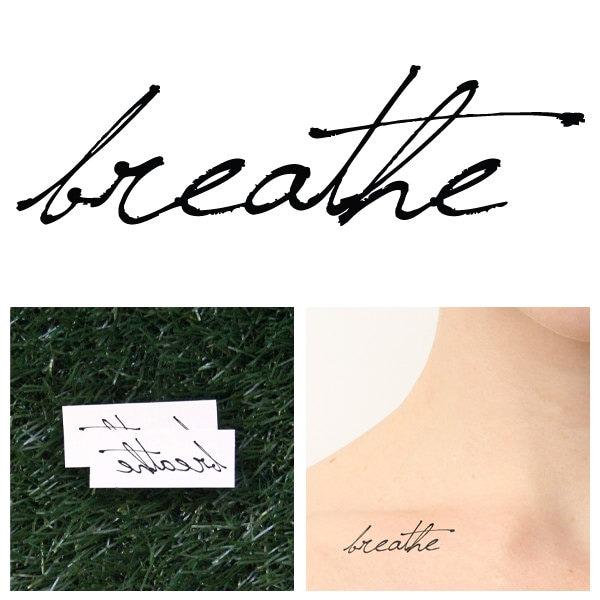 Breathe Temporary Tattoo Set Of 2