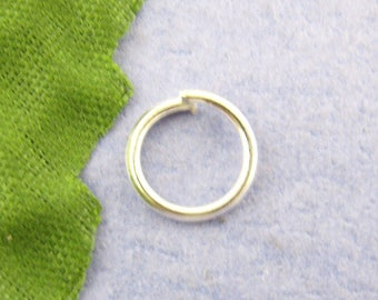 Set of 10g 8x1mm silver-plated jump rings