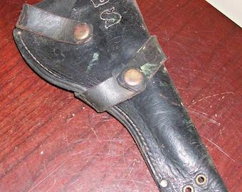 Vintage Leather Gun Holster