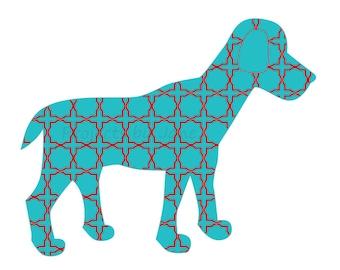 Dog applique template | PDF applique pattern | applique template