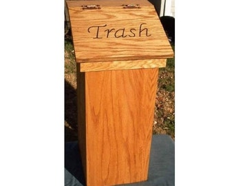 Superbe Kitchen Trash Can Wood Wooden Wastebasket Free Personalized Lid Example  Maryu0027s Kitchen