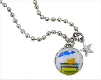 Bear Charm, Kids Necklace, Childrens Jewelry, Girls Necklaces, Girls Bracelets, Interchangeable jewelry, Kids Bracelet, Photo Jewelry,