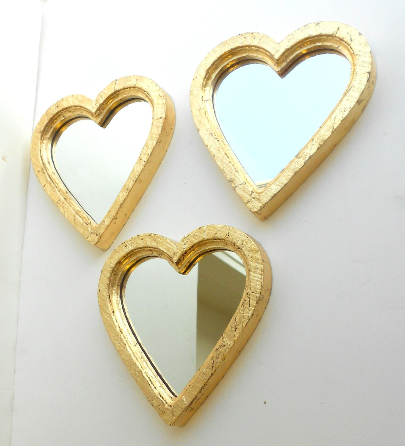 Gold Heart MirrorsHeart Shaped MirrorsVintage Style