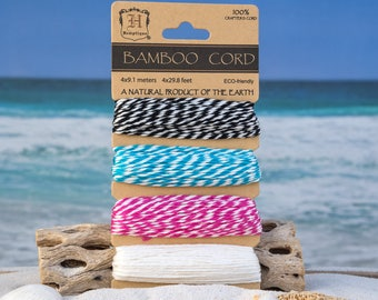 Bakers Twine,  Bamboo Cord, 1mm, Craft Twine, Eco Friendly  Cord -CH17