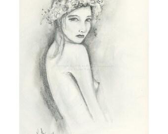 Sketch 3 - graphite series - Print of pencil drawing