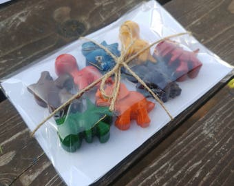 Dinosaur Crayons - 1 SET - Dinosaur Party Favors - Dinosaur Party - Kids Gifts - Stocking Stuffers - Easter Basket Stuffer - Dinosaur Crayon