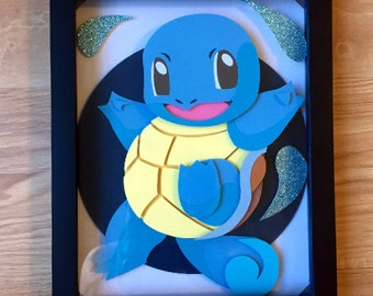 8x10 Squirtle Shadowbox