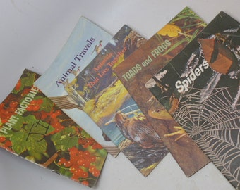 Vintage Science Books (5) - California State Textbook -  Children's School Book -  Nature Book