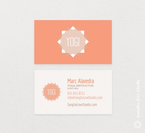 Salute the sun yoga business card or wellness yoga business colourmoves