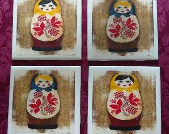 Nesting Dolls Coaster Set