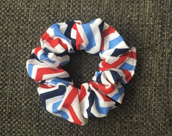 Ponytail Holder, Red White and Blue, Hair Tie, Scrunchie, Hair Band, Retro, Gifts for Her, Gifts Under 10