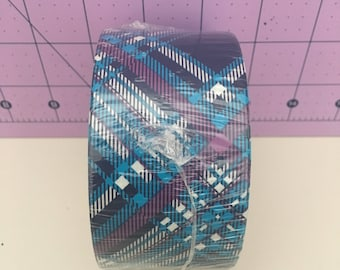 rare blue plaid duct tape