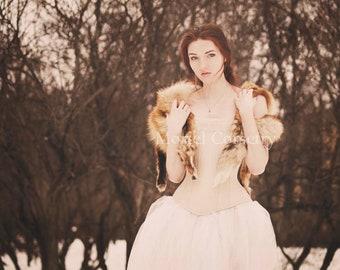 Victorian linen 1860s overbust corset with macrame lace | Vintage style corsets | Beige corset | Elven bridal corset | historical corset
