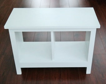 ON SALE 24 inch Painted Entryway Bench Shoe Cubby Cubby Storage Bench Bench Seat Entertainment Center