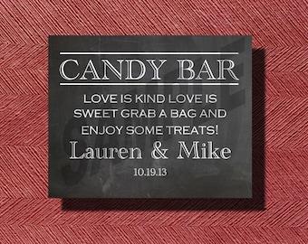 Chalkboard Wedding Candy Bar Sign