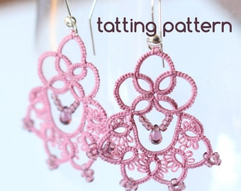 PDF Royal earrings - tatting pattern by littleblacklace - instant download