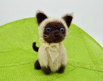 Siamese Cat Crochet Pattern, Crochet Kitten Pattern, Crochet Cat