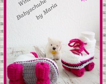 Baby Slippers Crochet baby shoes roller Skates